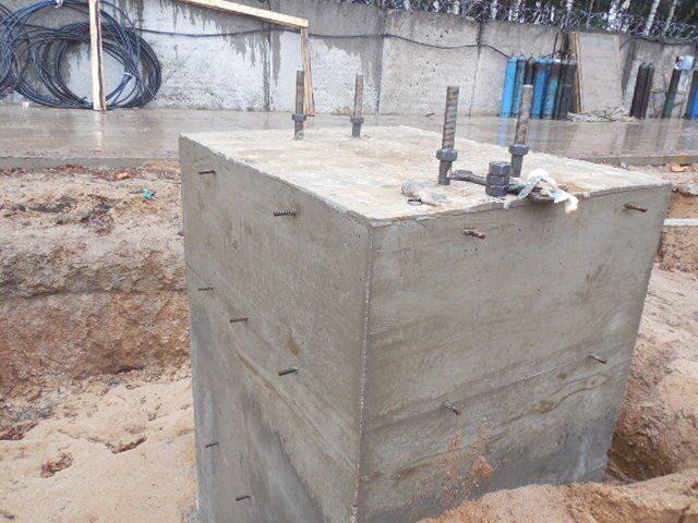 Установка анкерного блока под колонну