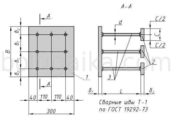 Закладная деталь МН151-160