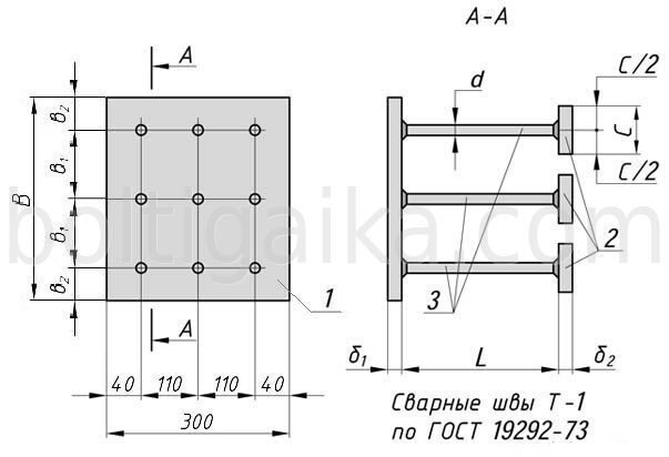 Деталь закладная МН152 заказать в компании ПК Болт и Гайка