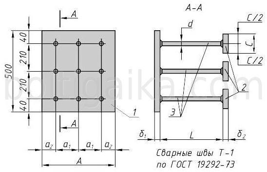 МН159 закладная деталь чертеж