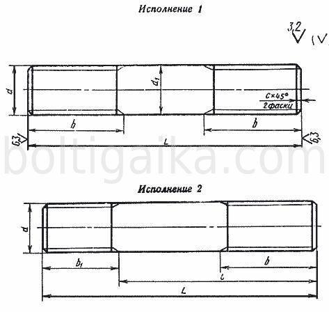 Шпилька для фланцевых соединение Тип А