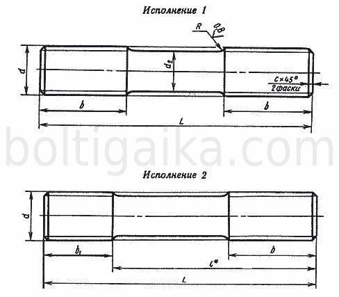 Шпилька для фланцевых соединений Тип Б